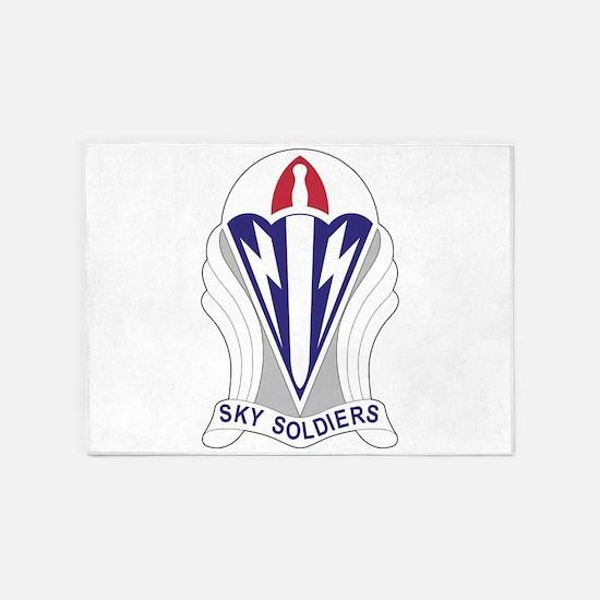 Unit Insignia: 173rd Airborne 5'x7'Area Rug