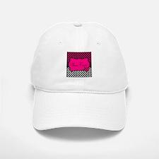 Personalizable Pink and Black Ladybug Baseball Baseball Baseball Cap