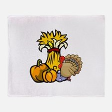 thanksgiving centra... Throw Blanket