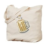 Retro Style Beer Tote Bag