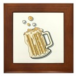 Retro Style Beer Framed Tile