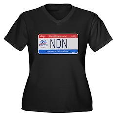 Ohio NDN Pride Women's Plus Size V-Neck Dark T-Shi