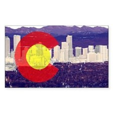 Denver Flag Skyline Decal