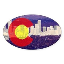 Denver Flag Skyline Decal