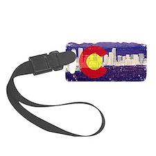 Denver Flag Skyline Luggage Tag