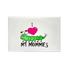 I love my mommies caterpillar Rectangle Magnet