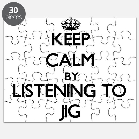 Cute Keep calm and jig on Puzzle