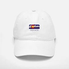 Denver Skyline Flag Baseball Baseball Cap