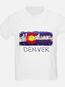 Denver Skyline Flag T-Shirt
