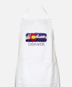 Denver Skyline Flag Apron