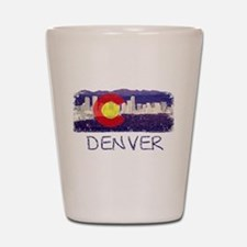 Denver Skyline Flag Shot Glass