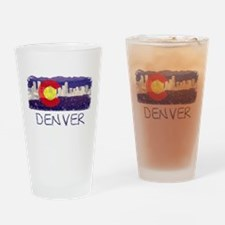 Denver Skyline Flag Drinking Glass