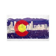 Denver Skyline Flag 3'x5' Area Rug