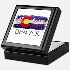 Denver Skyline Flag Keepsake Box