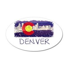 Denver Skyline Flag Wall Decal