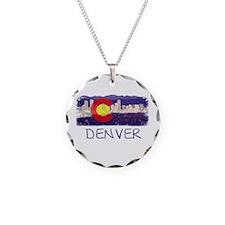 Denver Skyline Flag Necklace