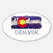 Denver Skyline Flag Decal