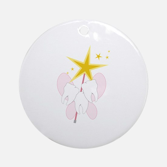 Tooth Fairy Wand Ornament (Round)