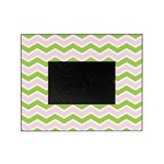 Pink Green Chevron Picture Frame