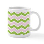 Pink Green Chevron Mug