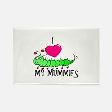 I love my mummies Rectangle Magnet
