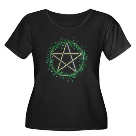 Ivy-Wreathed Pentacle Women's Plus Size Scoop Neck