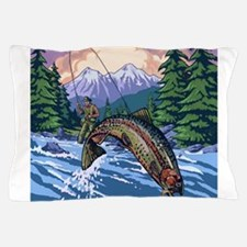 Cute Fishermans fly Pillow Case