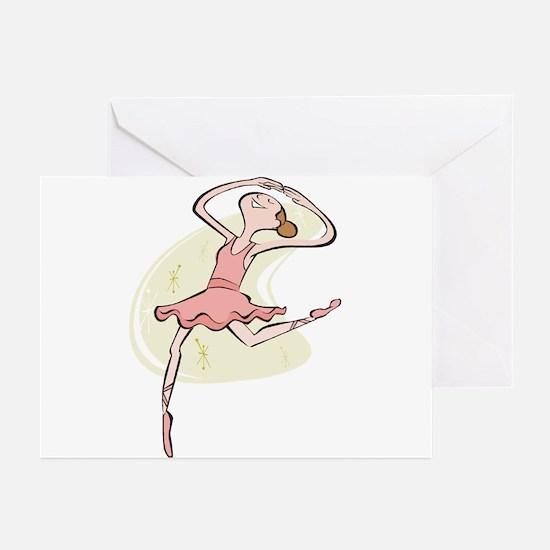 Retro Ballerina Girl  Greeting Cards (Pk of 10
