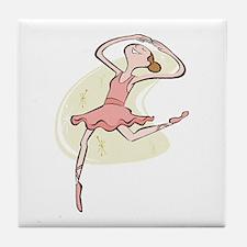 Retro Ballerina Girl  Tile Coaster