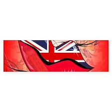 Lips, United Kingdom Bumper Bumper Sticker