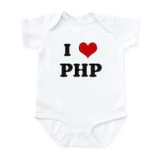 I Love PHP Infant Bodysuit