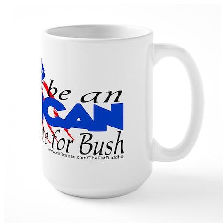 Proud American, didn't vote f Large Mug