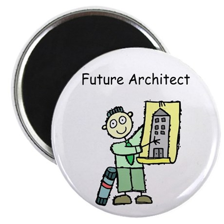 Future Architect with Buiding Plans Occupation Mag