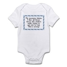 Mommy's wrong Blue Infant Bodysuit