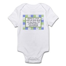 Freakin' adorable Blue/Green Infant Bodysuit