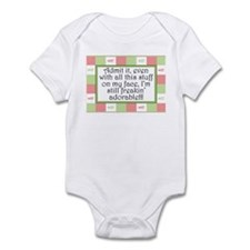 Freakin' adorable Pink/Green Infant Bodysuit