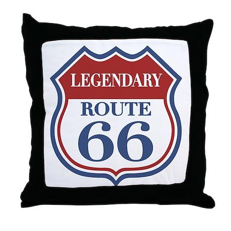 Legendary Rte. 66 Throw Pillow