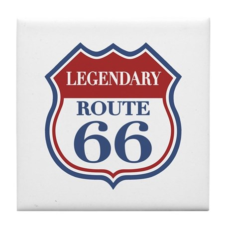 Legendary Rte. 66 Tile Coaster