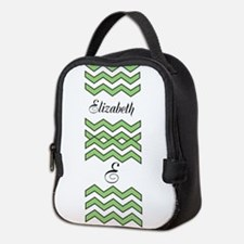 Customize Green Chevron Neoprene Lunch Bag