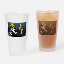 The Cat Signal Drinking Glass
