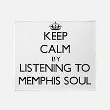 Funny Memphis radio Throw Blanket
