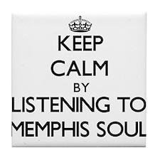 Funny Memphis radio Tile Coaster