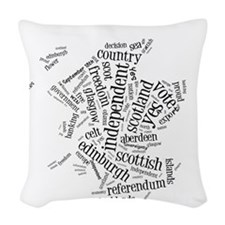 Scottish Independence Wordle Woven Throw Pillow