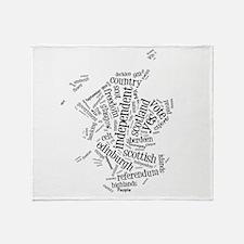 Scottish Independence Wordle Throw Blanket