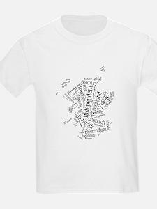 Scottish Independence Wordle T-Shirt