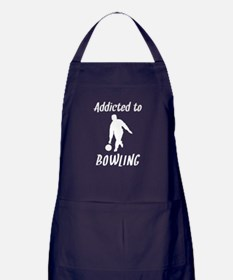 Addicted To Bowling Apron (dark)