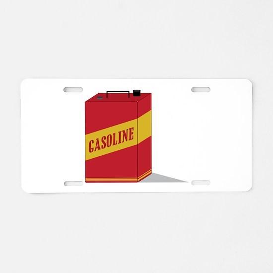 Gasoline Aluminum License Plate