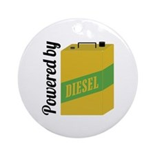 Powered By Diesel Ornament (Round)