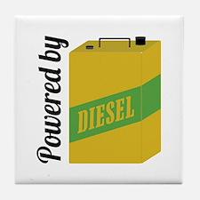 Powered By Diesel Tile Coaster