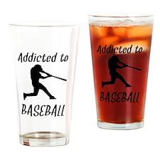 Addicted To Baseball Drinking Glass